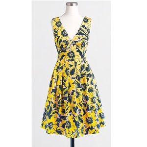 J.Crew Floral piqué dress
